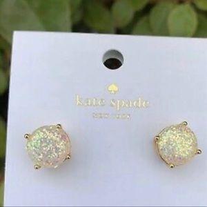 Kate Spade Gold Opal Glitter Earrings